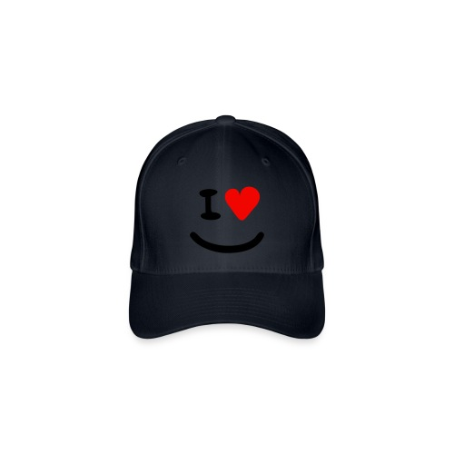 I Love Basecap Smiley - Flexfit Baseballkappe