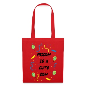Friday is a cute Day - Stoffbeutel