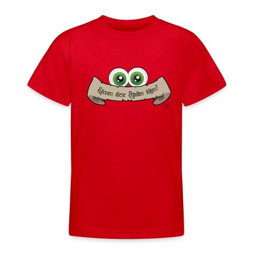 Teenager T-Shirt - lügen,Pupillen