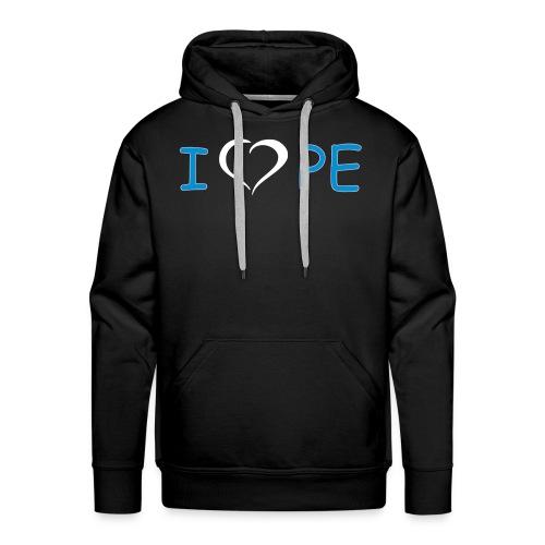 IlovePE8 - Felpa con cappuccio premium da uomo