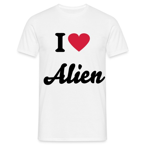 I Love Alien00 White - T-shirt Homme