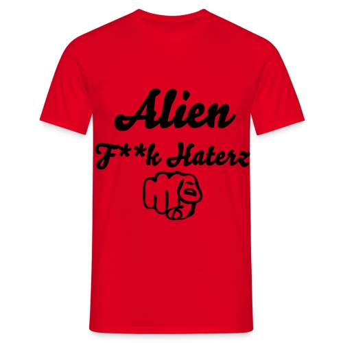 Alien F**k Haterz Censured01 Red - T-shirt Homme