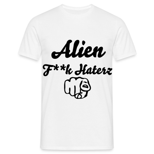 Alien F**k Haterz Censured01 White - T-shirt Homme