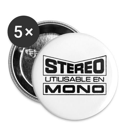 Badge Mono 3 cm - Lot de 5 moyens badges (32 mm)