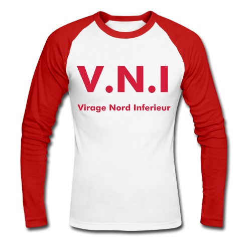 VNI rouge - T-shirt baseball manches longues Homme