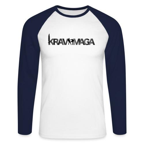 Baseball shirt Krav Maga Homme Marine - T-shirt baseball manches longues Homme