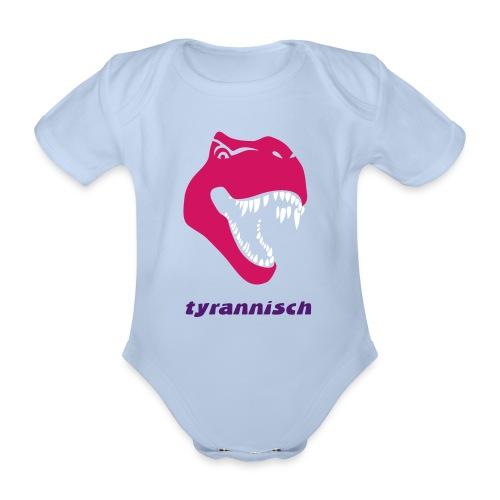 tier shirt tyrannosaurus rex tyrann tyrannisch t-rex trex dino dinosaurier jurassic - Baby Bio-Kurzarm-Body