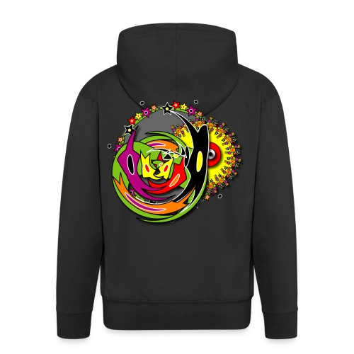 Goa Trance Design Shirt - Männer Premium Kapuzenjacke