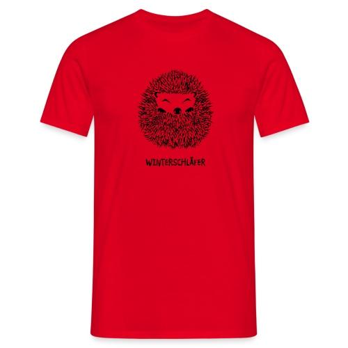 tier shirt igel winterschlaf winterschläfer müde pennen verpennt schlaf schlafen herbst garten kugel - Männer T-Shirt