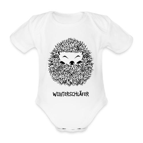 tier shirt igel winterschlaf winterschläfer müde pennen verpennt schlaf schlafen herbst garten kugel - Baby Bio-Kurzarm-Body