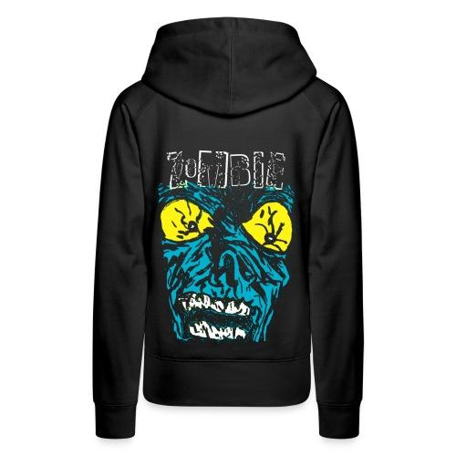 Sweat-shirt à capuche femme zombie - Sweat-shirt à capuche Premium pour femmes