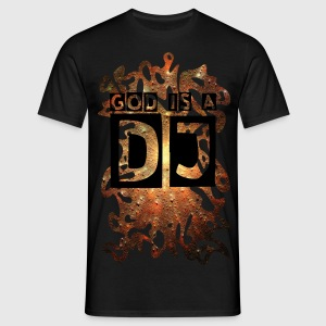 SUPER NOVA - 3D grunge + Dein Text (GOD IS A DJ) | unisex shirt - Männer T-Shirt