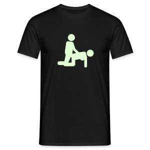 Smar-Tees Mens Glow In The Dark Doggy Tee - Men's T-Shirt