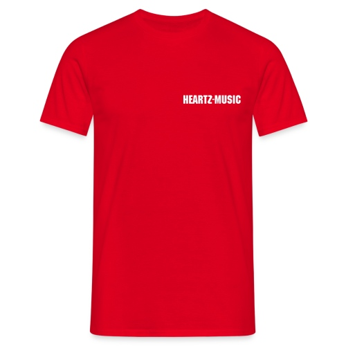 heartz-music red t-shirt - Männer T-Shirt