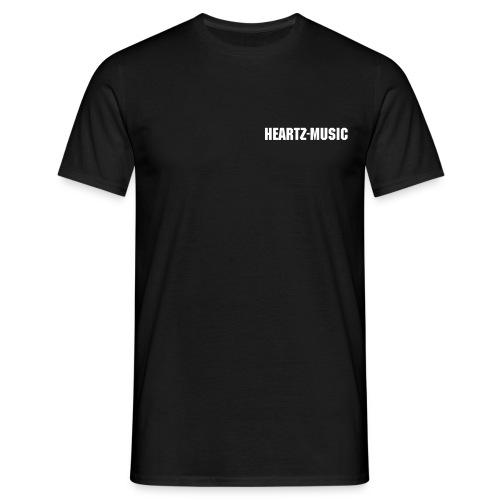 heartz-music black t-shirt - Männer T-Shirt