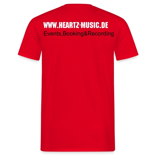 heartz-music red t-shirt3 - Männer T-Shirt