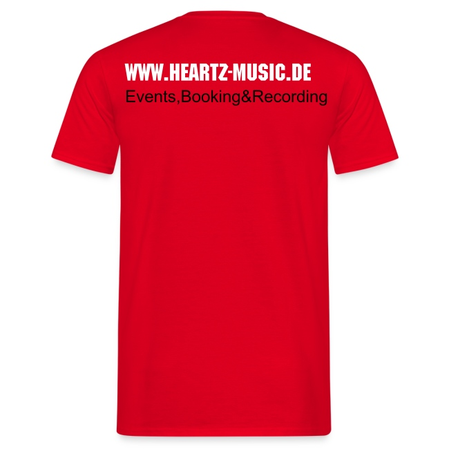 heartz-music red t-shirt3