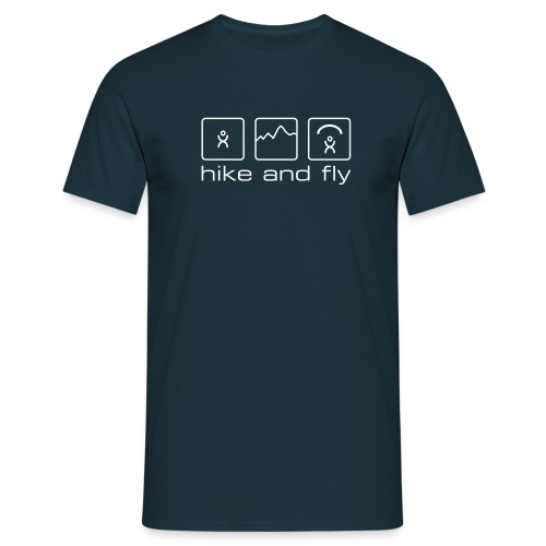 Herren-Shirt «hike and fly»  - Männer T-Shirt