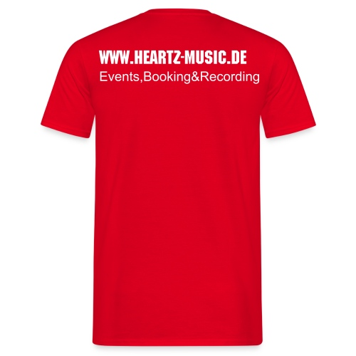 heartz-music red t-shirt2 - Männer T-Shirt