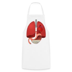 Delantal cocinero organos cosidos, para que no se pierda tu corazon  20 12 - Delantal de cocina