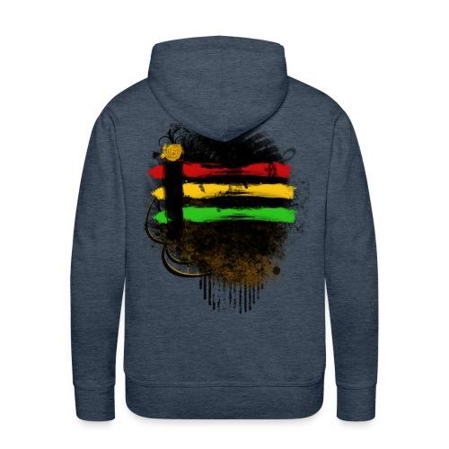 Männer Premium Hoodie - stripes,reagge,rasta,jamaika,design,colour,color,brown,braun