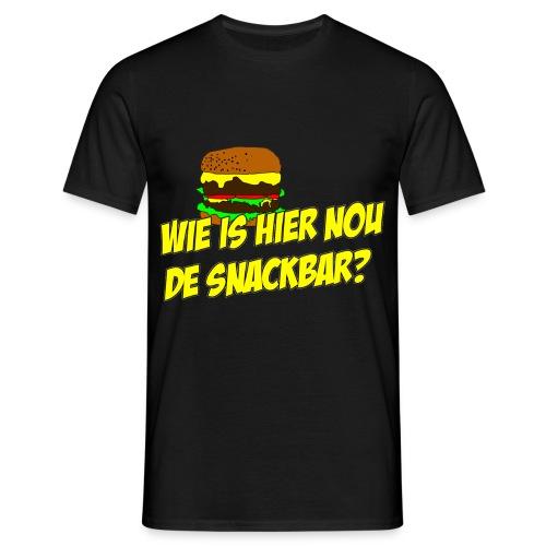New Kids T-shirt Wie is hier nou de snackbar? - Mannen T-shirt