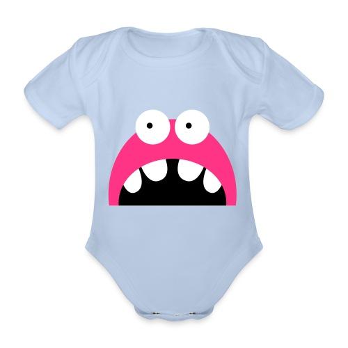 monstre bb - Organic Short-sleeved Baby Bodysuit
