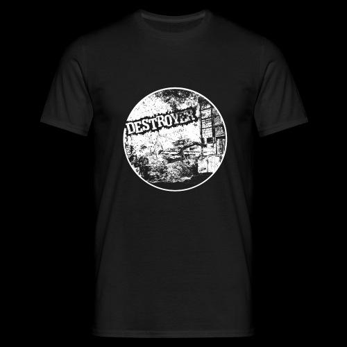 Destroyer white print - Koszulka męska