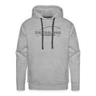 Hoodies & Sweatshirts ~ Men's Premium Hoodie ~ Detailing World Grey Logo Hooded Fleece Top