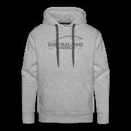 Hoodies & Sweatshirts ~ Men's Premium Hoodie ~ Detailing World Grey Logo Hooded Fleece Top
