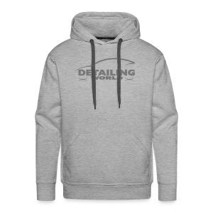 Detailing World Grey Logo Hooded Fleece Top - Men's Premium Hoodie