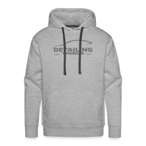 Detailing World Grey Logo Hooded Fleece Top - Men's Premium Hoodie