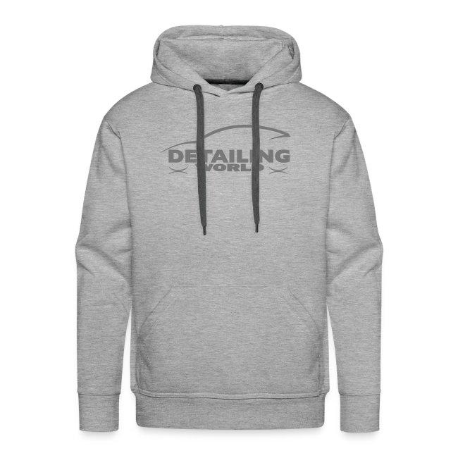 Detailing World Grey Logo Hooded Fleece Top