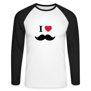 I Love Beards Tee shirts manches longues - Männer Baseballshirt langarm