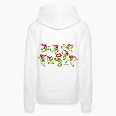 Christmas Frogs, dancing, jumping and celebrating! Hoodies & Sweatshirts
