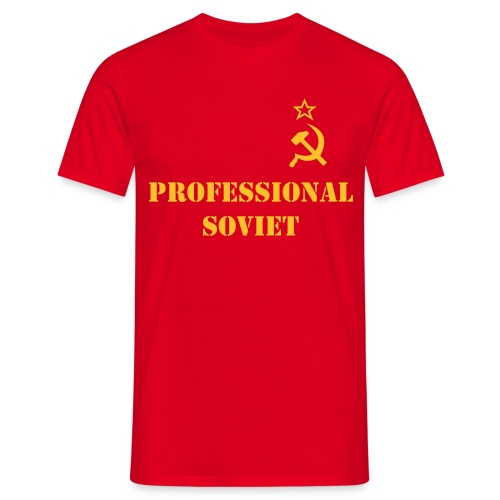 Professional Soviet Shirt Male - Men's T-Shirt