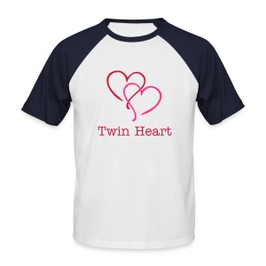 twin heart - Men's Baseball T-Shirt