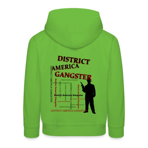 Pull à capuche enfant district america gangster - Pull à capuche Premium Enfant