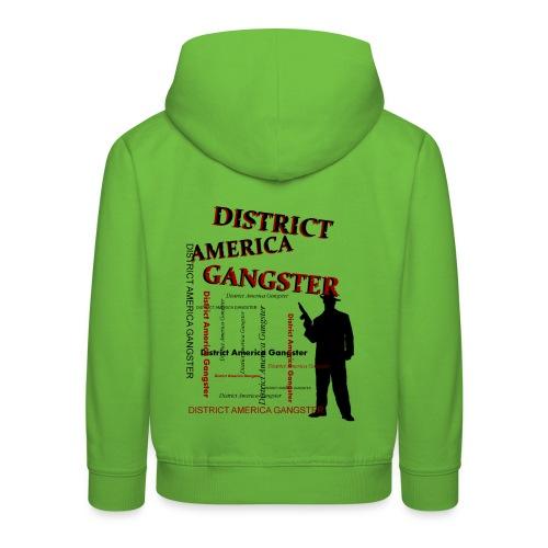 Pull à capuche enfant district america gangster - Pull à capuche Premium Enfant