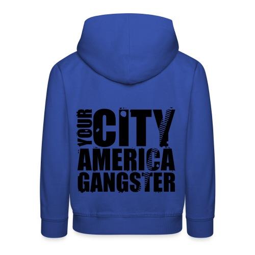 Pull à capuche enfant your city america gangster - Pull à capuche Premium Enfant