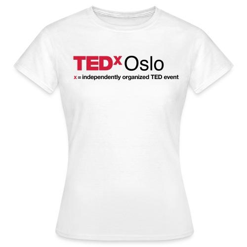 TEDxOslo Hvit T-skjorte Dame - T-skjorte for kvinner