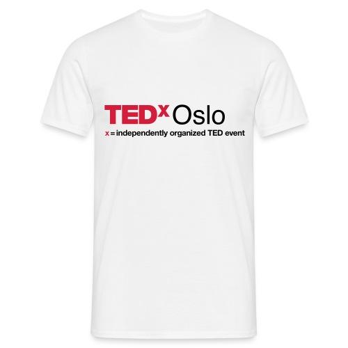 TEDxOslo Hvit T-skjorte herre - T-skjorte for menn
