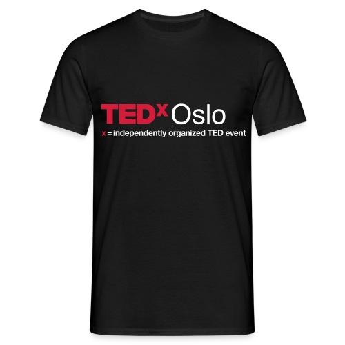 TEDxOslo Svart T-skjorte herre - T-skjorte for menn