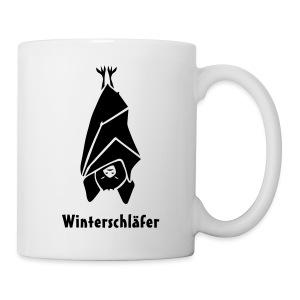 tier shirt fledermaus bat winterschlaf schlafen schlaf winterschläfer vampir winter schläfer halloween drakula - Tasse