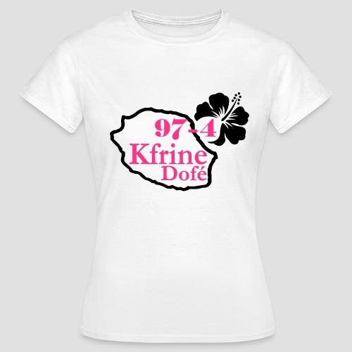 Tee shirt classique Femme Sexy 974, Réunion, kfrine do fé - T-shirt Femme