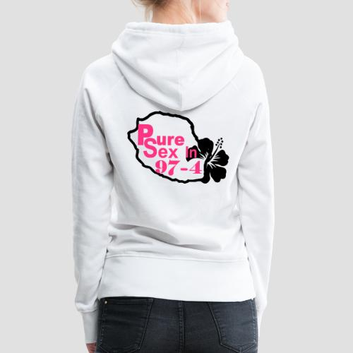 Sweat-shirt à capuche Femme Sexy 974, Réunion, Pure Sex  - Sweat-shirt à capuche Premium pour femmes