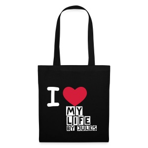 I ♡ My Life T-shirt BAG  - Stoffbeutel