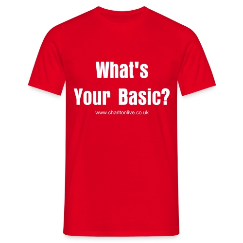What's Your Basic? Red/White (Mens) - Men's T-Shirt