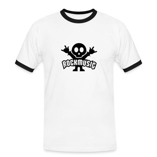 rock1 - Maglietta Contrast da uomo