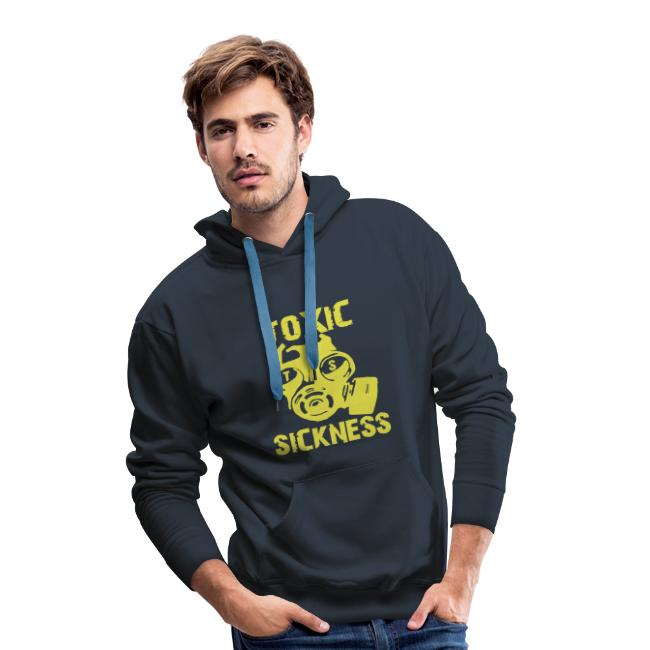 NEW mens navy blue and yellow TS hoodie